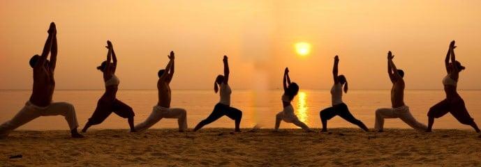 group-beach-yoga